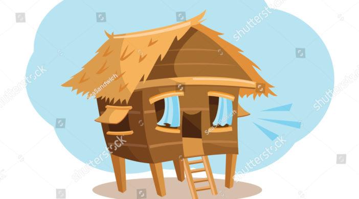 stock-vector-a-cartoon-vector-illustration-of-a-happy-bahay-kubo-nipa-hut-759971689-702x390 Bahay Kubo