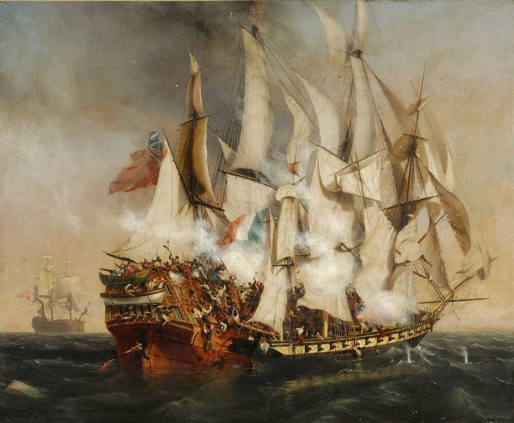 Combat_naval_-_labordage_du_Kent_de_Garneray_1836_musee_de_La_Roche-sur-Yon-8ee95125 Au 31 du mois d'août