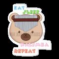 eat-sleep-kalimba-repeat-sticker-120x120 Kalimba Sticker:Eat Sleep Kalimba Repeat
