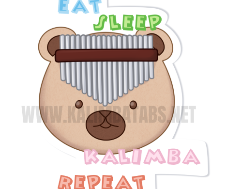 eat-sleep-kalimba-repeat-sticker-500x390 Kalimba Sticker:Eat Sleep Kalimba Repeat