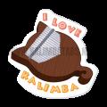 i-love-kalimba-sticker-120x120 Kalimba Sticker: I LOVE KALIMBA