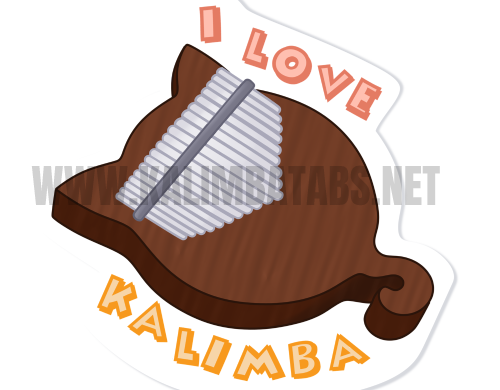 i-love-kalimba-sticker-500x390 Kalimba Sticker: I LOVE KALIMBA