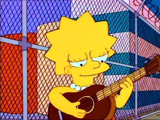 LisaPlaying-de6122d0 Union Strike Folk Song (Simpsons s04e17)